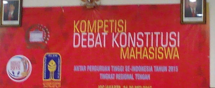 Lomba Debat Konstitusi Tahun 2015 Tahap Regional Tengah