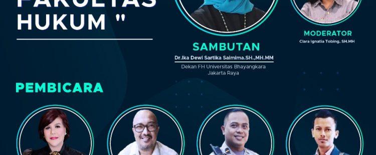 Webinar Memilih Karir bagi Lulusan Fakultas Hukum